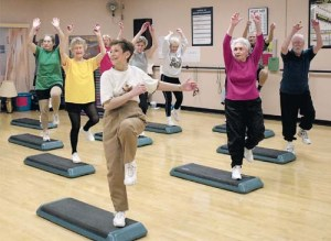Exercise class at Covenant. (A-J Photo/Joe Don Buckner)