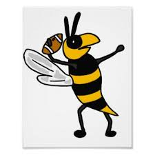 bee with football