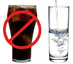 no soda drink water