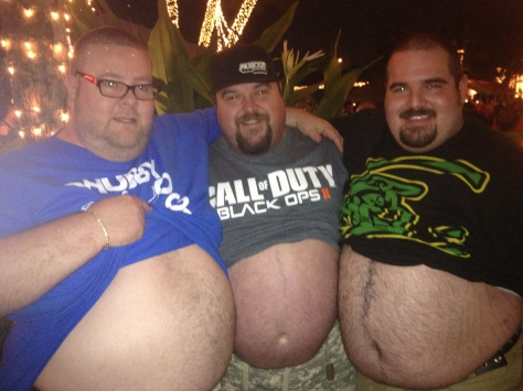 3 guys belly