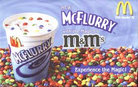 mcflurry with mandms