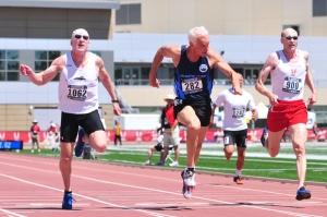 older men sprinting