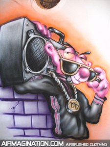 pink panther graffiti