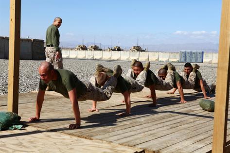 marine push ups