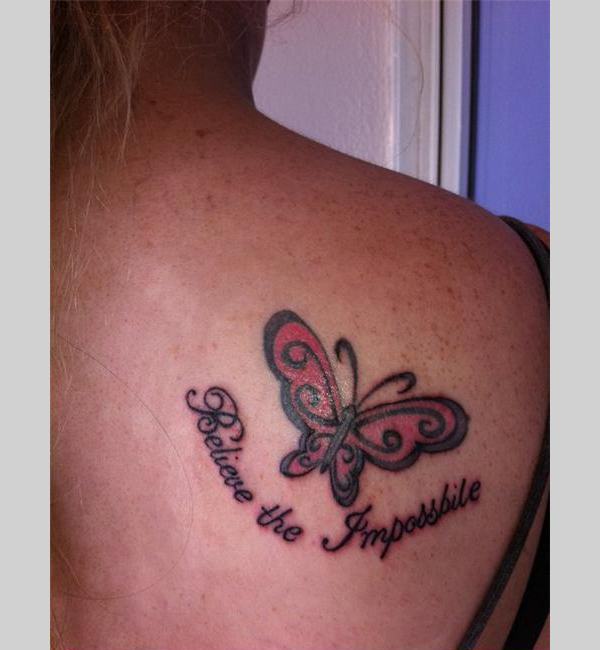 Quote Tattoos On Shoulder Blade | www.imgkid.com - The ...