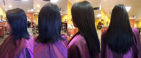 black-hair-extensions-before-after